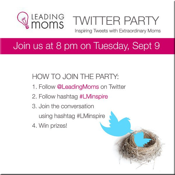 Leading Moms Twitter Party