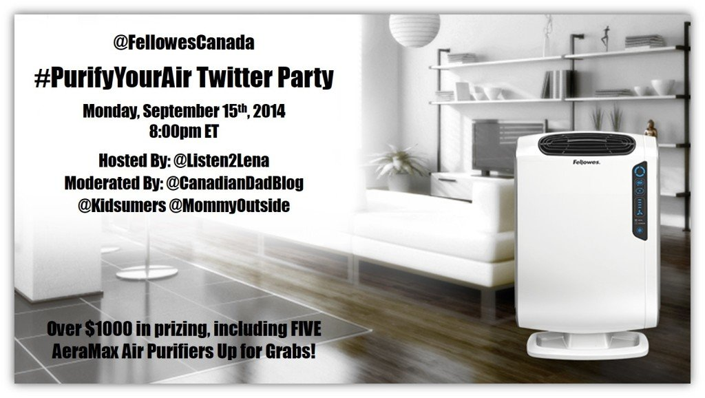 #purifyyourair fellowes twitter party