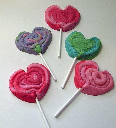 Playdough Heart Cookie Pops