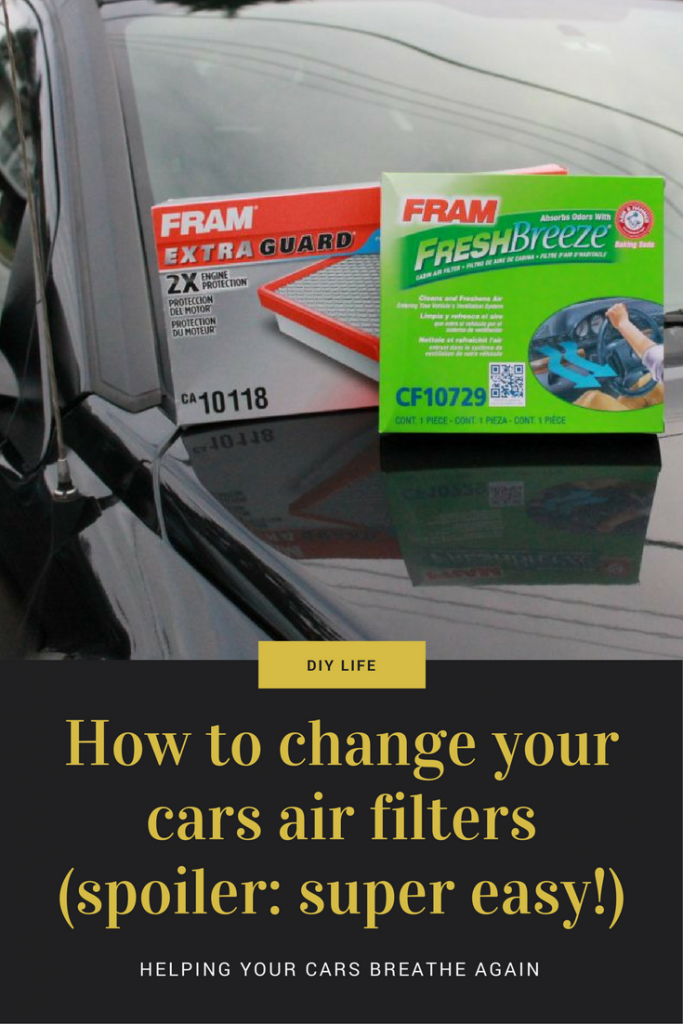 How to easily change your cars engine and cabin air filters - saving money while rocking the #DIY! #CarCare #FrugalLiving