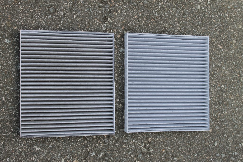 FRAM Fresh Breeze Filter Before and After