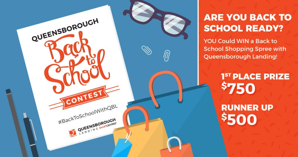 Queensborough Landing Shopping Centre back to school contest