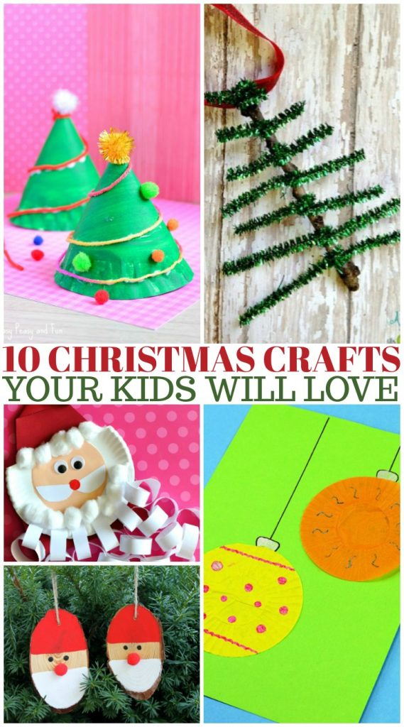 10 Christmas Crafts Your Kids Will Love - Using Many Things You Already Have At Home! #DIY #Crafts #Christmas #Holiday #HolidayCrafts #Snowman #Santa