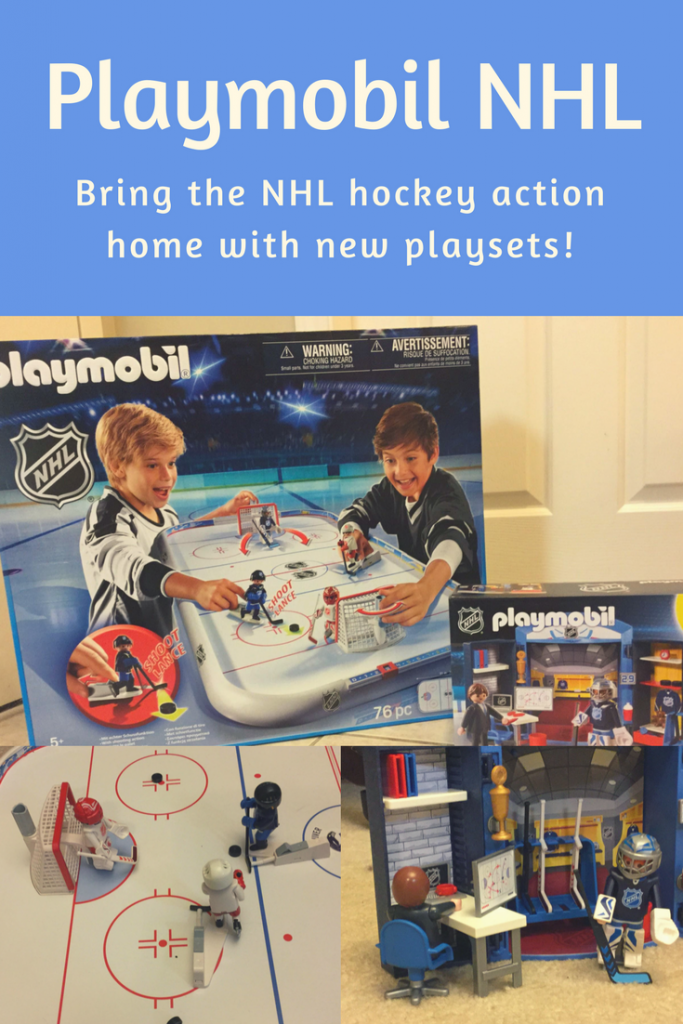 Playmobil NHL brings the excitement of hockey home! #Playmobil #Toys #Review #ImaginationPlay #BuildingSets