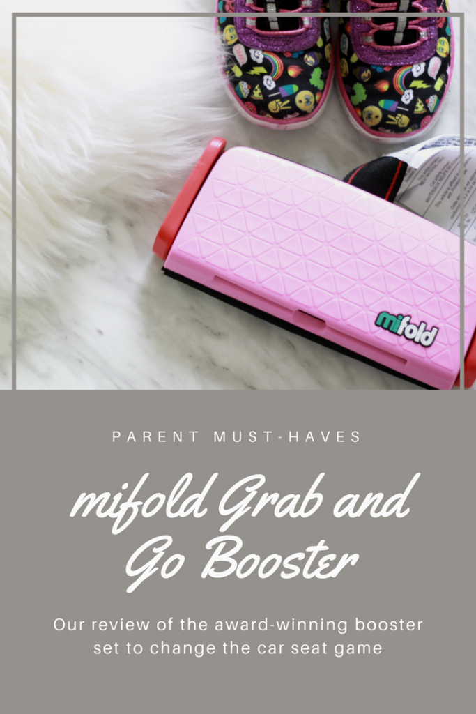 mifold grab and go booster #CarSeat #Booster #Review #MiFold #FamilyTravel