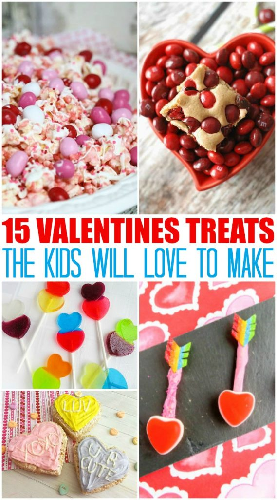 15 Valentine's Day Treats Kids Will Love! Easy DIY kitchen fun that kids of all ages can help out with for at home treats or perfect classroom sweets! #DIY #Baking #ValentinesDay #Baking #InTheKitchen #RoundUp