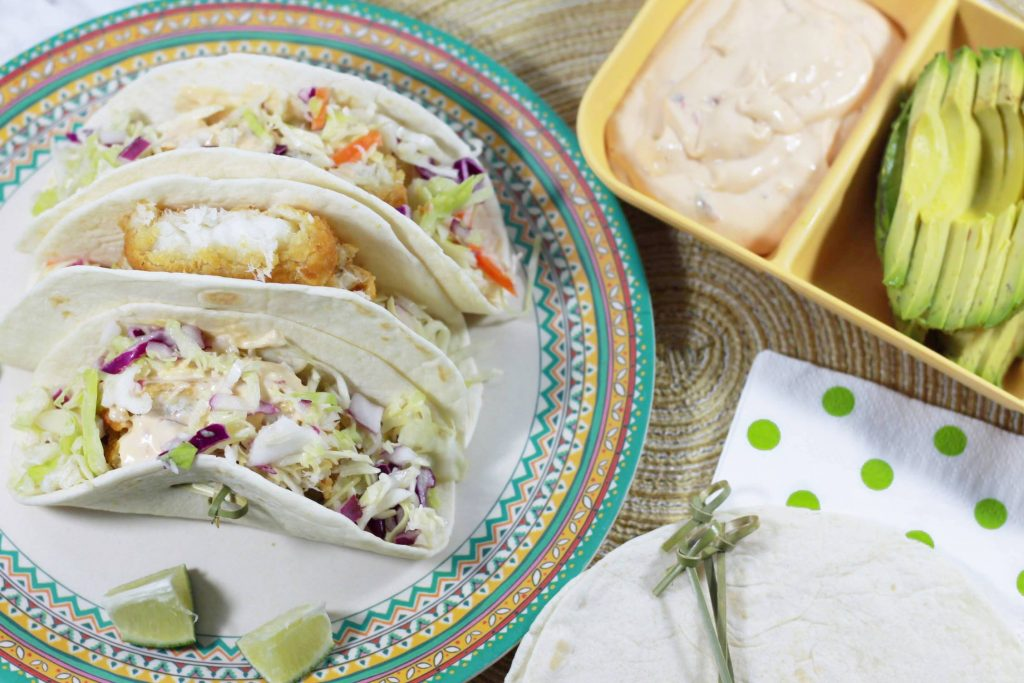 Weeknight Chipotle Baja Fish Tacos with Janes Ultimates Tavern Battered Cod